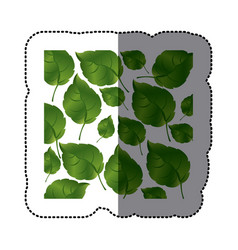 green leaves background icon vector image vector image