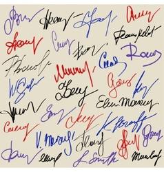 Hand signature set vector
