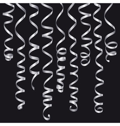 Holiday serpentine set vector image vector image