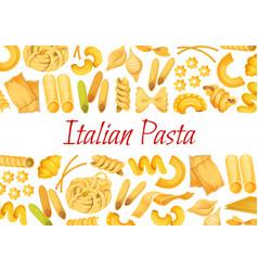 italian pasta restaurant poster vector image