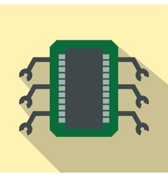 Microchip flat icon vector image