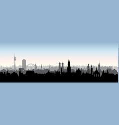 Munich city germany landmark buildings skyline vector