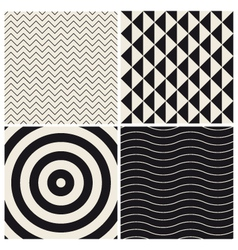 Pattern background set retro vector