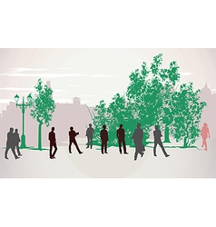 People walking vector image