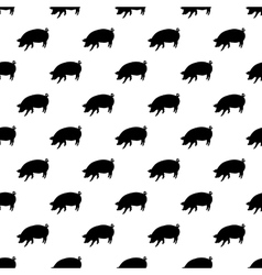 Pig pattern seamless vector