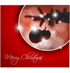 silhouette of a christmas tree vector image vector image