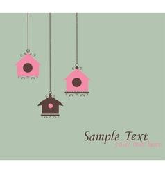 vintage bird house vector image vector image