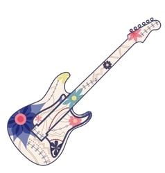 vintage electric guitar vector image vector image
