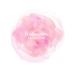 Watercolor pink abstract hand painted background vector