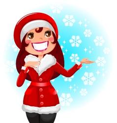women in winter vector image vector image