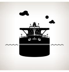 Silhouette of oil tanker vector