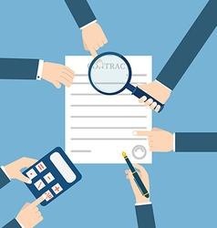 Preparation business contract vector image