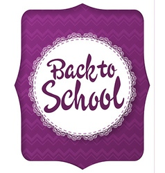 Back to school greeting card with handwritten vector