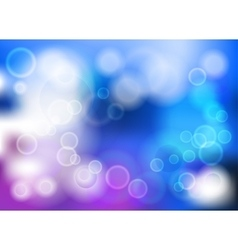 Bokeh blur romantic pink blue backdrop vector image