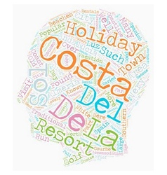 The Costas of Andalucia text background wordcloud vector image