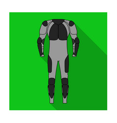 outfitting for cyclists full body protection vector image