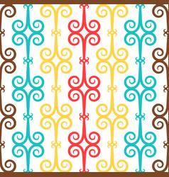 Spanish curl ornamental ceramic tile vector