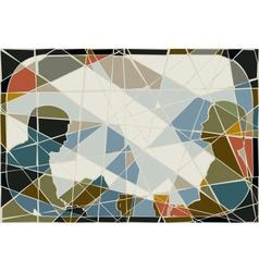 Commute mosaic vector image