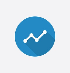 Up diagram flat blue simple icon with long shadow vector