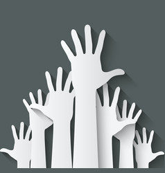 Hands up symbol vector