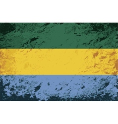 Gabonese flag grunge background vector