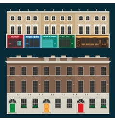 English terrace houses vector