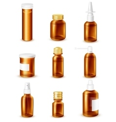 Pharmaceutical bottles set vector