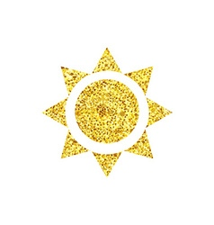 Gold triangle sun vector image