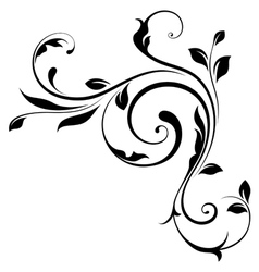 Design element swirls-4 vector image