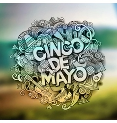 Cinco de mayo cartoon hand drawn doodle vector