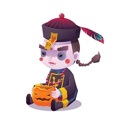Chinese hopping vampire ghost for halloween vector
