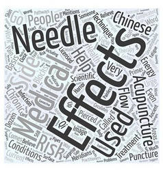 A primer on medical acupuncture word cloud concept vector