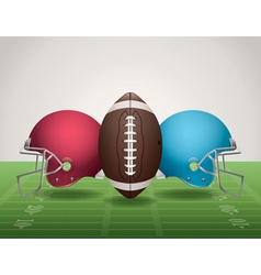 American football helmets landscape vector