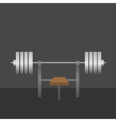 Barbell on bench vector