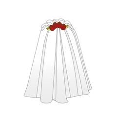 Bride cartoon icon image vector