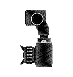 camera photo fron side view vector image