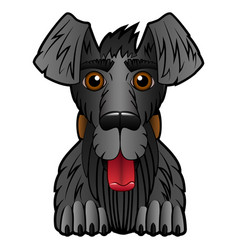 cartoon dog on a white background vector image vector image