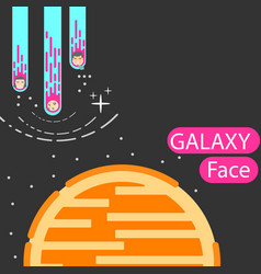 corporatedesign face galaxy vector image vector image