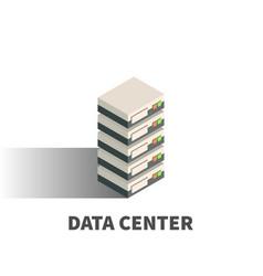 Data center icon symbol vector