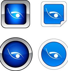 Eye button set vector