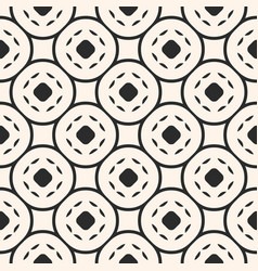 geometric seamless pattern with circular mesh vector image
