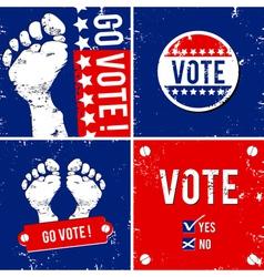 go vote vector image vector image