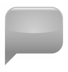 Gray glossy speech bubble blank location icon vector
