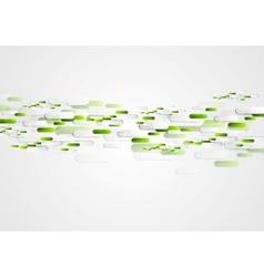 Green grey abstract tech vector