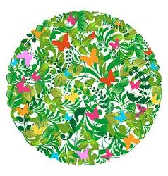 Green spring summer pattern vector image vector image