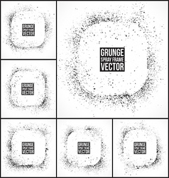 Grunge spray frames vector image