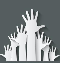 hands up symbol vector image vector image