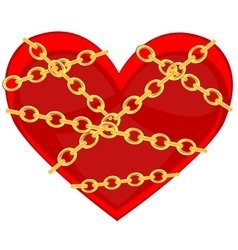 Heart in chain vector