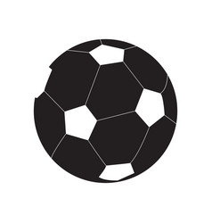 Isolated soccer ball silhouette vector