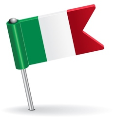 Italian pin icon flag vector image vector image